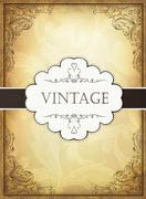 Stock Illustration of vintage background with ornamental frame. vector illustration, eps10