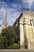 St michel cathedral high tower in bordeaux, france Stock Photos