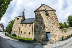 st. michaels church in fulda germany - stock photo