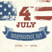 Stock Illustration of vintage styled card for fourth july celebration. vector, eps10