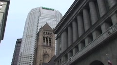 HD TOO BIG TO FAIL - PITTSBURGH FINANCIAL DISTRICT with MELLON and UBS Stock Footage