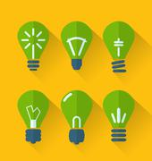icon set process of generating ideas to solve problems, birth of the brillian - stock illustration