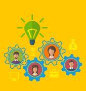 Emergence new creative idea, concept of effective teamwork Stock Illustration
