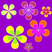 Floral sixties background Stock Photos