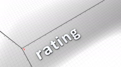 Growing chart graphic animation, Rating. Stock Footage