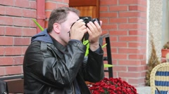 Detective, secret agent, journalist or paparazzi in action 2 Stock Footage