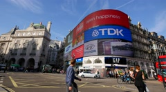 Piccadilly Circus,  london, traffic Stock Footage