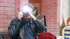 Detective, secret agent, journalist or paparazzi in action 3 Stock Footage