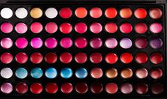 Lip gloss palette Stock Photos