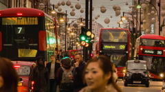 Shopping Rush on Oxford Circus Stock Footage