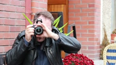 Detective, secret agent, journalist or paparazzi in action 4 Stock Footage
