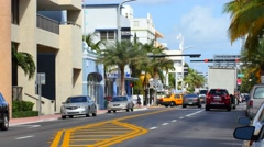 Miami beach 11th street facing north 4k video Stock Footage