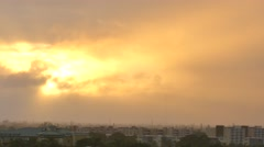 Rain storm and sun through clouds 4k Stock Footage