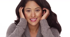 Happy Mexican woman Stock Footage