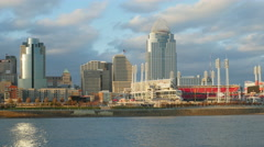 4K Cincinnati Riverfront Skyline 7 Stock Footage