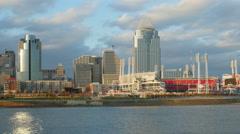 4K Cincinnati Riverfront Skyline 7 Stock Footage