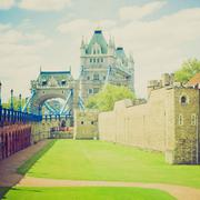 Stock Photo of Vintage look Tower of London
