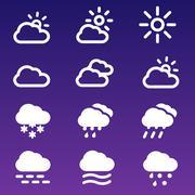 Forecast Icons Set Stock Illustration