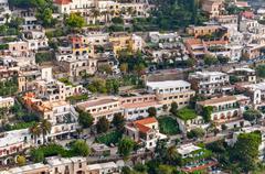View of positano, italy Stock Photos