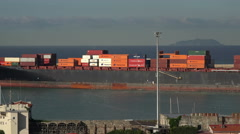 Livorno Italy port container ship tugboat pt 3 4K 009 Stock Footage