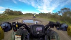 GoPro Mudding ATV POV Stock Footage