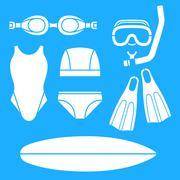 Swimming Appearances Stock Illustration