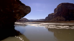 Rivber Ice on Colorado River Time Lapse Stock Footage