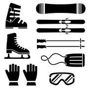 Skate Equipments Set - stock illustration