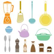 Kitchen Cookware Set - stock illustration