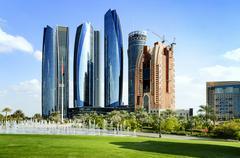 Skyscrapers in abu dhabi, united arab emirates Kuvituskuvat