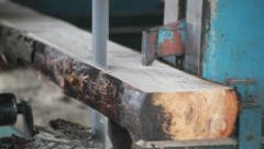 Bandsaw Sawmill - stock footage