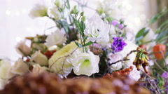 Wedding loaf element with flowers - stock footage
