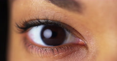 Closeup of brown eyes Stock Footage