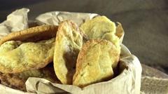 Macadamia nut cookies (not loopable) Stock Footage