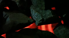 Fireplace with coals burning. HD. 1920x1080 Stock Footage