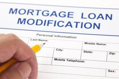 Mortgage loan modification form Stock Photos