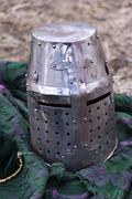 A medieval helmet Stock Photos