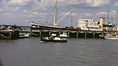 Southend early 1960s: the harbour Stock Footage