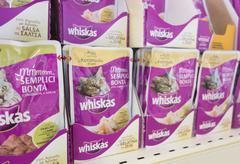 Whiskas cat's food Stock Photos