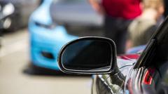 Side-View Mirror Of a Car Stock Footage