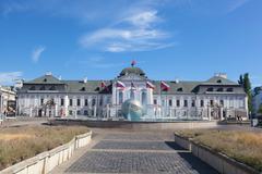 presidential palace in bratislava - stock photo