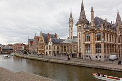 Stock Photo of views of the historical downtown ghent.