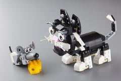 Lego cat and mouse Stock Photos