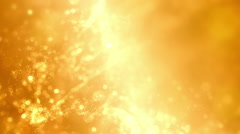 Yellow sparks stars dust background Stock Footage