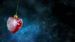 Red Christmas Heart and Dust Stock Footage