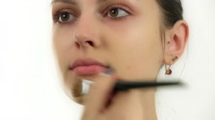 Stock Video Footage of makeup for a model