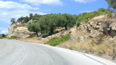 Travel the roads of Sithonia peninsula. Stock Footage