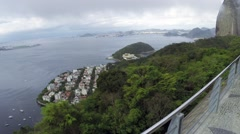 View from the Sugar Loaf Mountain in Rio de Janeiro, Brazil Stock Footage