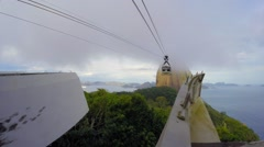 SugarLoaf Mountain and Cable Car in Rio de Janeiro, Brazil Stock Footage