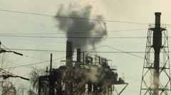 factory smoke stack 2 times faster (3) - stock footage